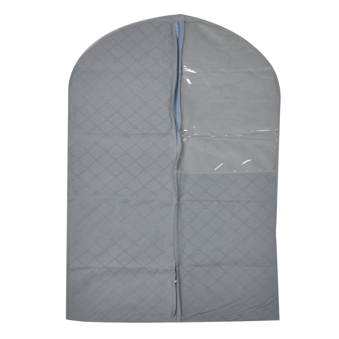 60cm x 100cm Gray Dust-proof Suit Clothes Garment Bag Protector Cover