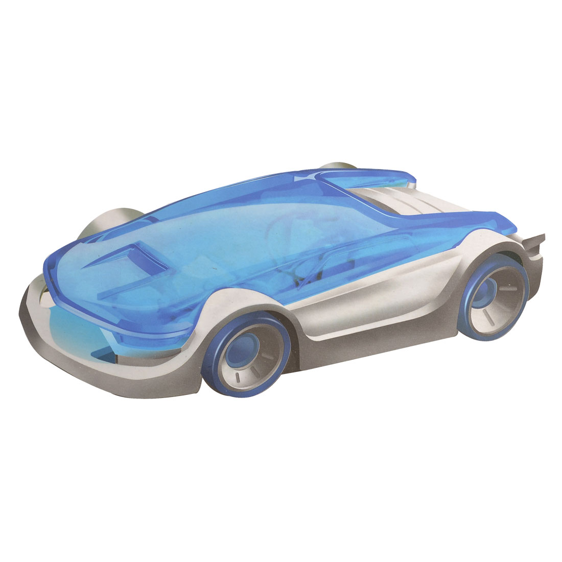 Blue White Educational Salt Water Powered Vehicle Car DIY Toy
