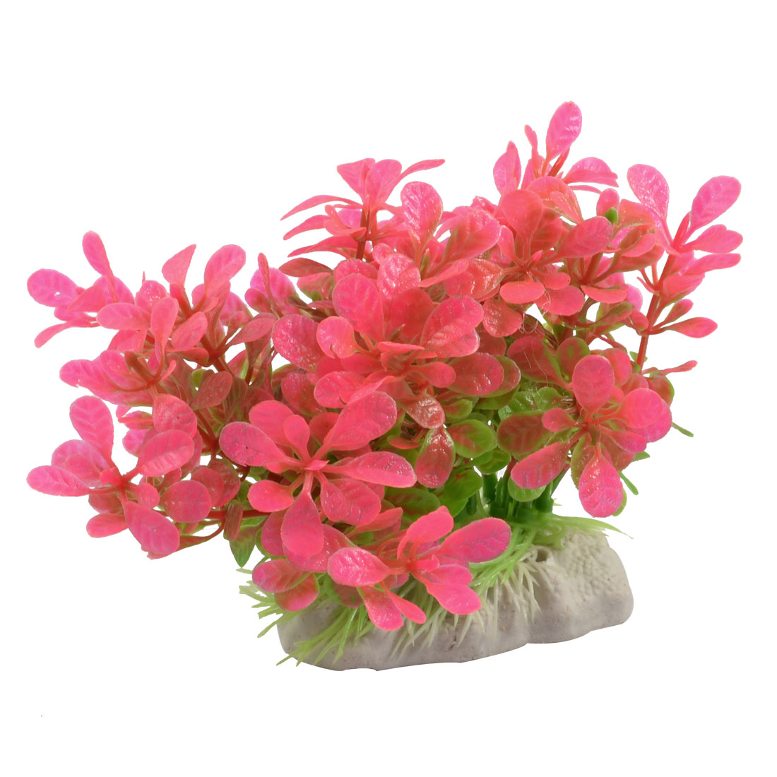 Aquarium Artificial Red Aquatic Plants Ornament for Fish Tank