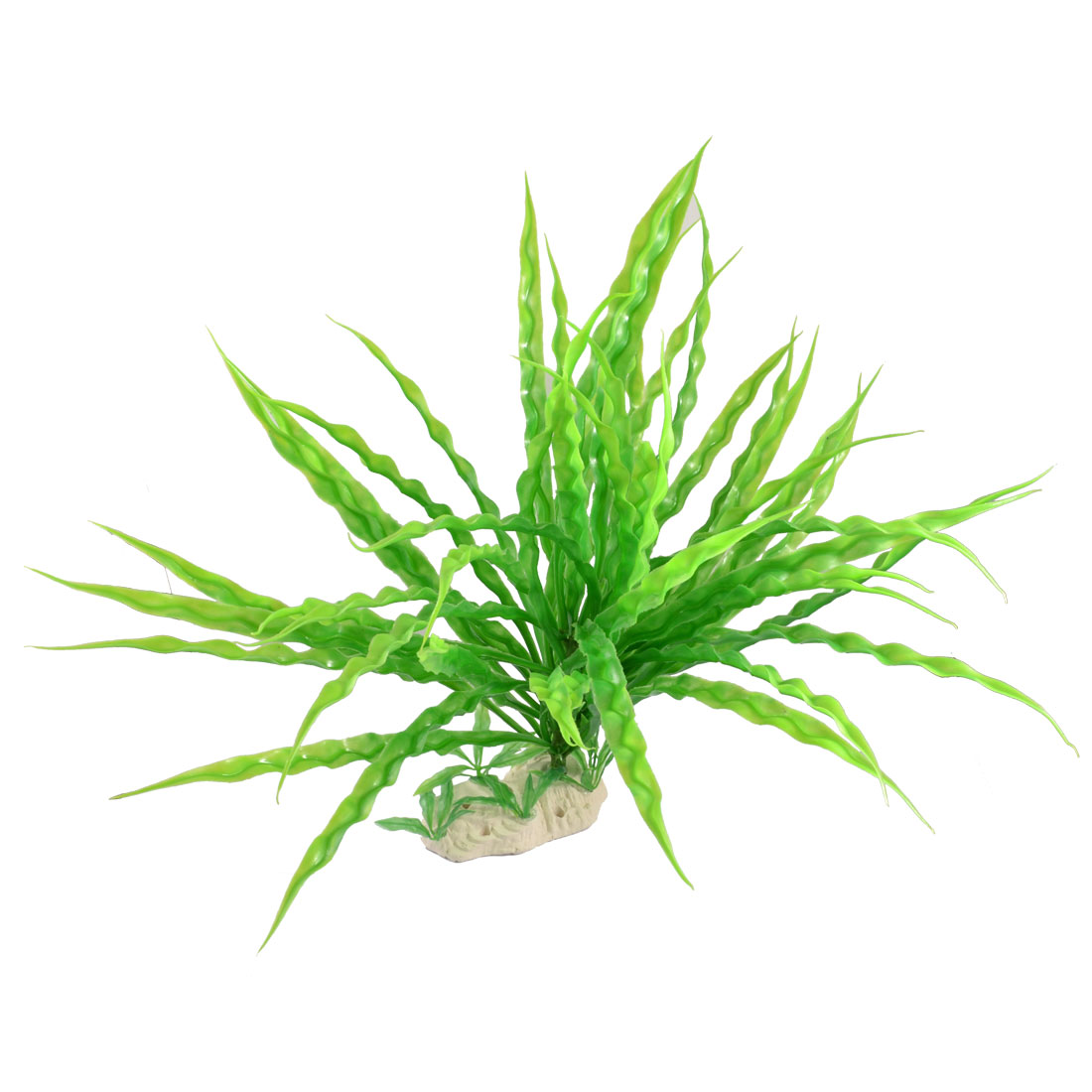 "15"" High Plastic Green Long Leaves Water Grasses Ornament for Aquarium"