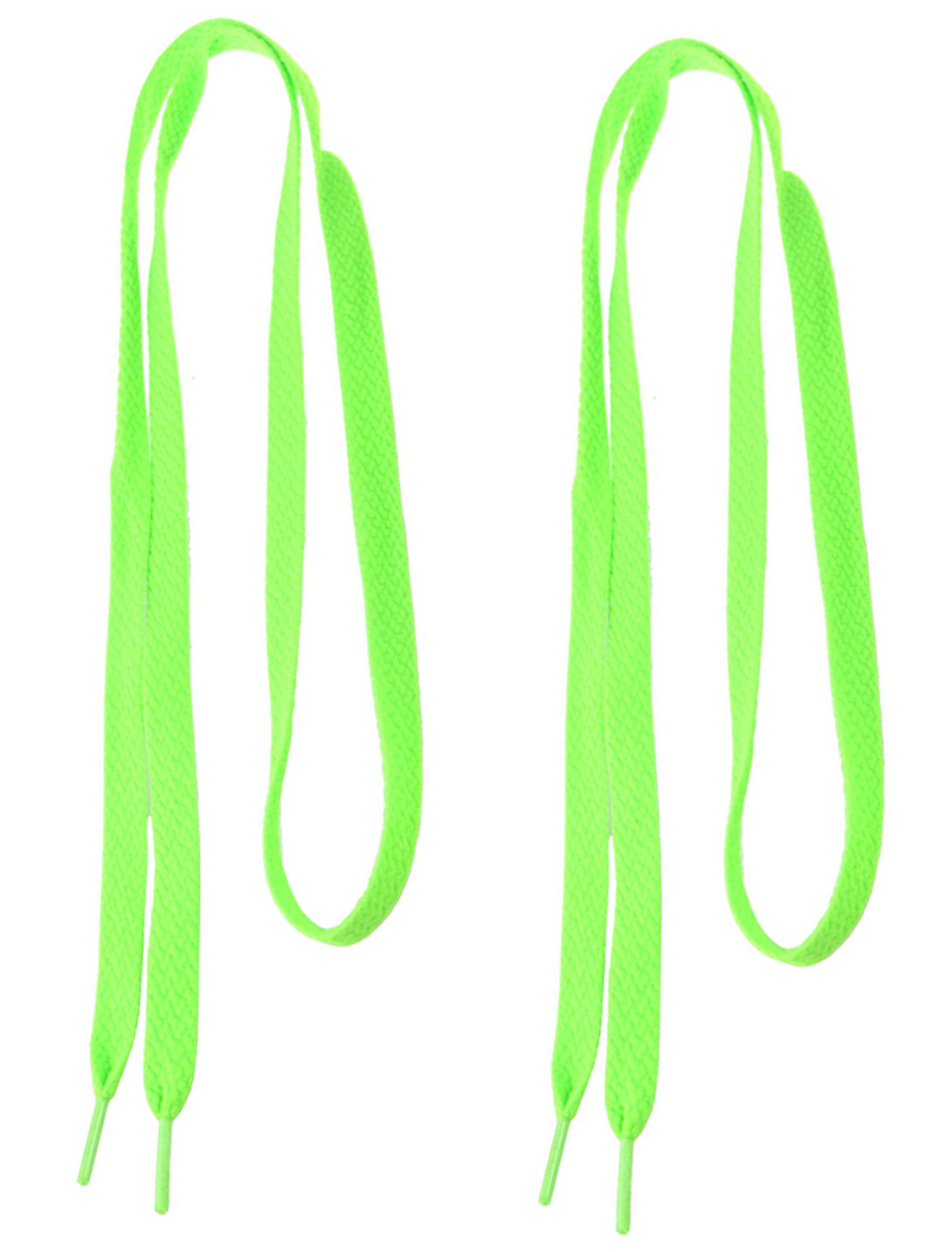 "2 Pairs Light Green Flat Strings 0.4"" Wide Shoe Laces for Sneakers"