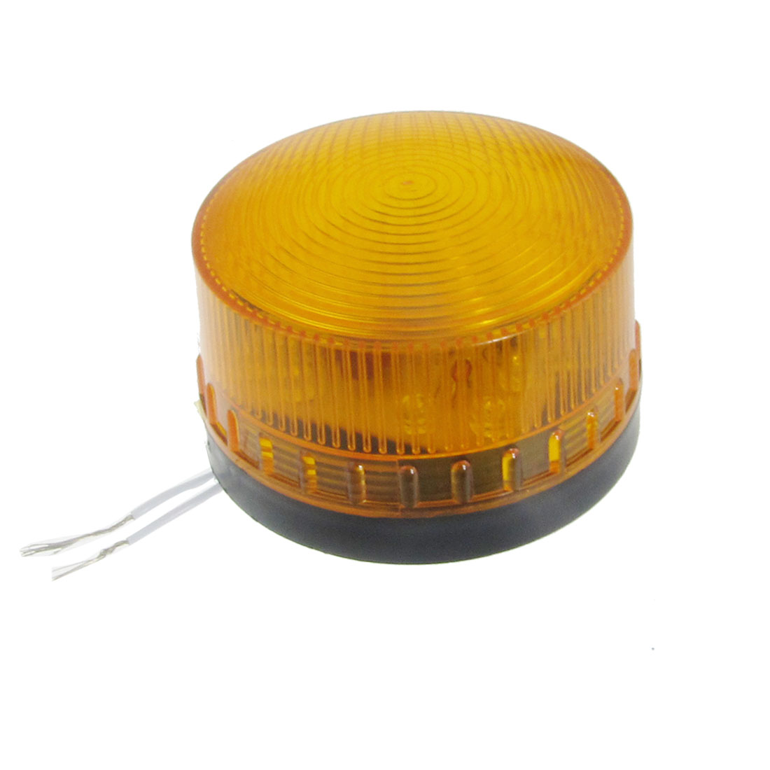 Industrial AC/DC 220V Wired Yellow LED Miniature Signal Light Flash Warning Lamp