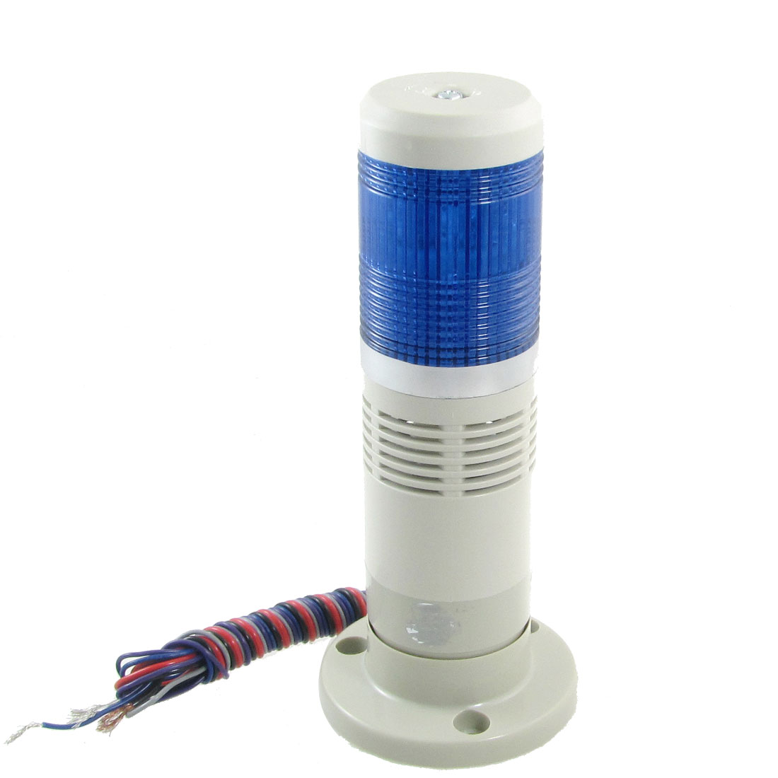 24V AC/DC Blue LED Industrial Signal Tower Light Warning Lamp Flash with Buzzer