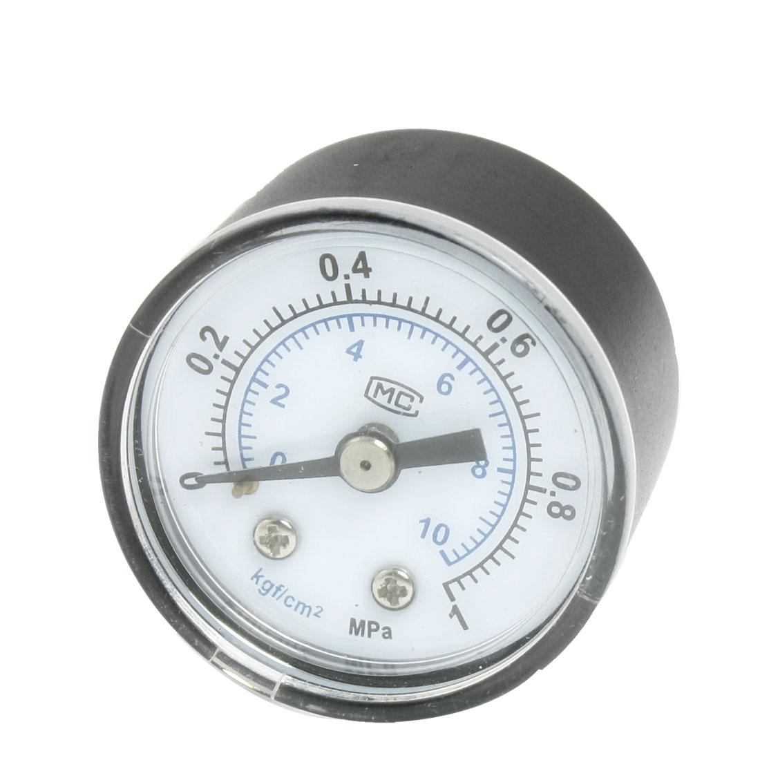 "Air Compressor 0-1MPa 3/8"" Threaded Dial Pressure Gauge"