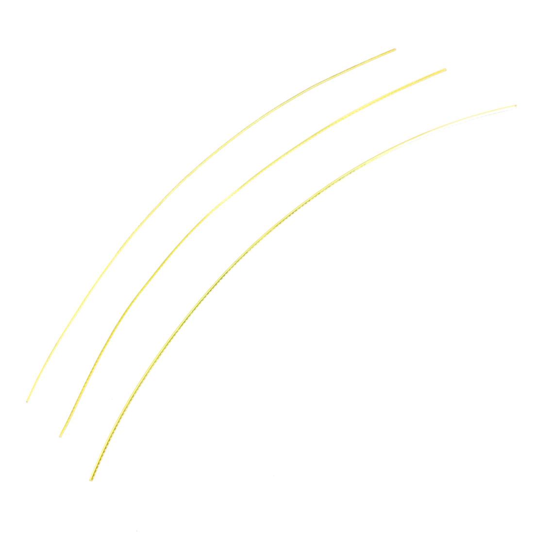 """3 Pcs Electric Guitar Fretwire Gold Tone Metal Frets 15.7"""""""