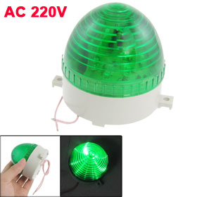 Industrial AC 220V Wired Green LED Miniature Signal Light Flash Warning Lamp