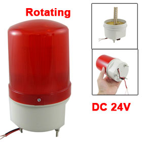 DC 24V Industrial Red LED Rotating Warning Light Signal Tower Lamp
