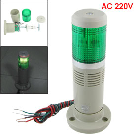 AC 220V Industrial Green Signal Tower Lamp Flash Warning Stack Light