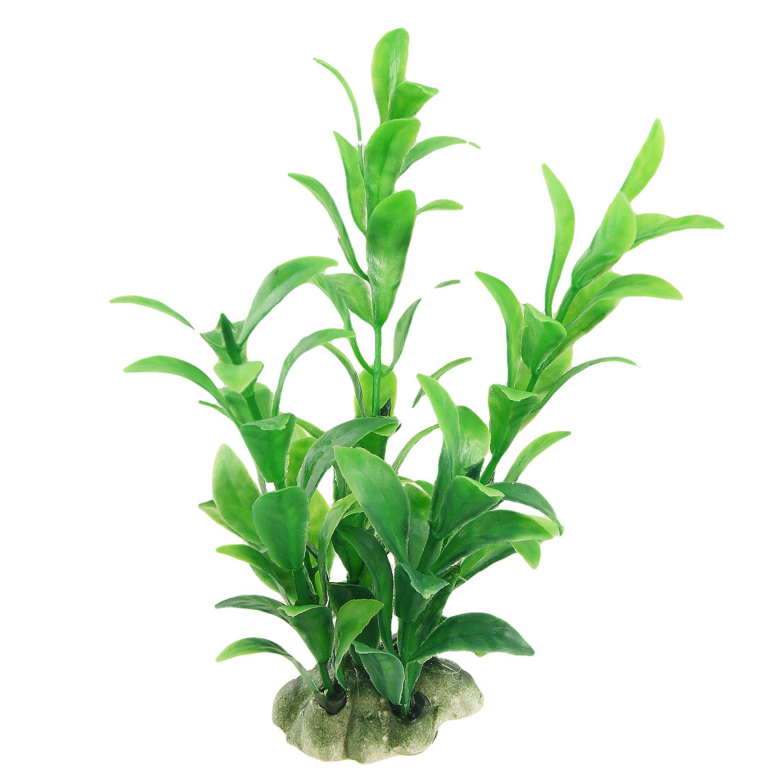 "Aquarium Simulated Green Leaves Blue Plastic Plants Ornament 5.7"" 2 Pcs"