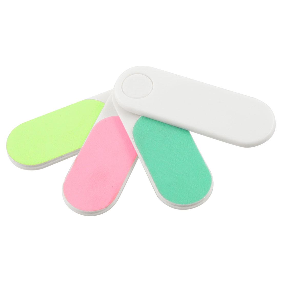 Fingernail Care Implement Buffer Polish 4 in 1 Mini Nail File