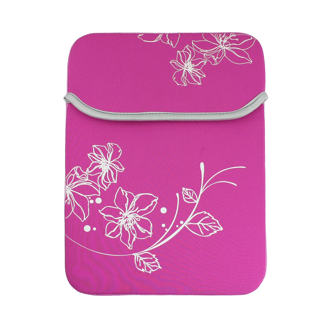 "10"" 10.1"" 10.2"" Fuchsia Flower Neoprene Laptop Sleeve Bag for 2 Tablet PC"