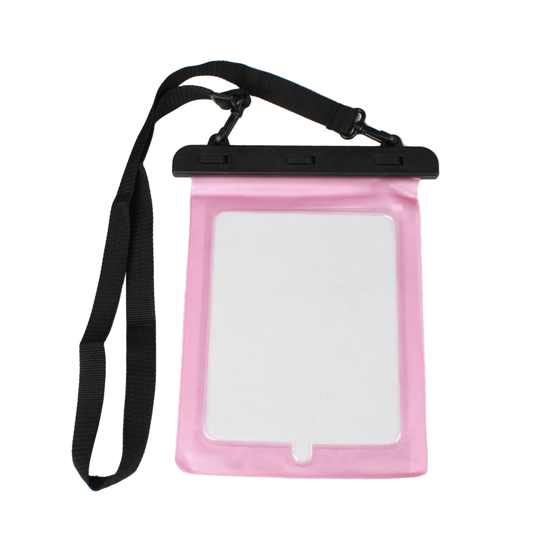 Water Resistance Plastic Pouch Bag Cover Pink for Apple iPad