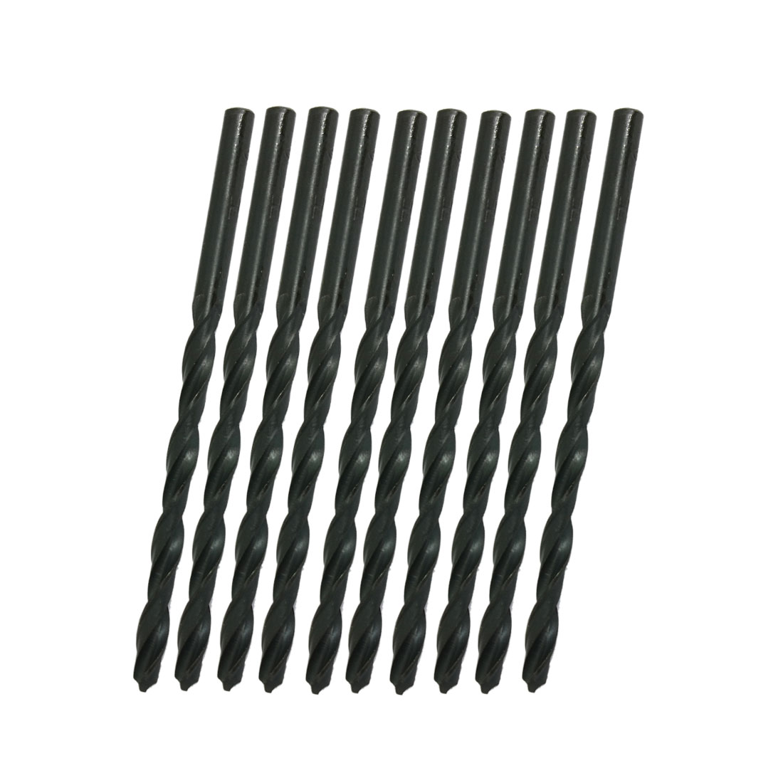 10 Pcs HSS High Speed Steel Straight Shank Twist Drill Bits 4mm