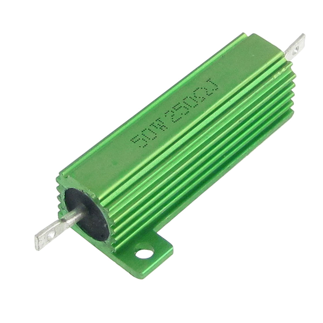 Green Aluminum Case Wire Wound 50W 5% 250 Ohm Resistors 2 Pcs