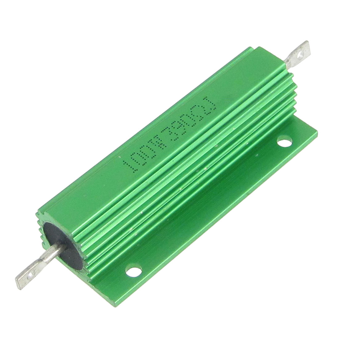 Green Aluminum Shell Wire Wound 100W 5% 390 Ohm Resistors Resistance 2 Pcs