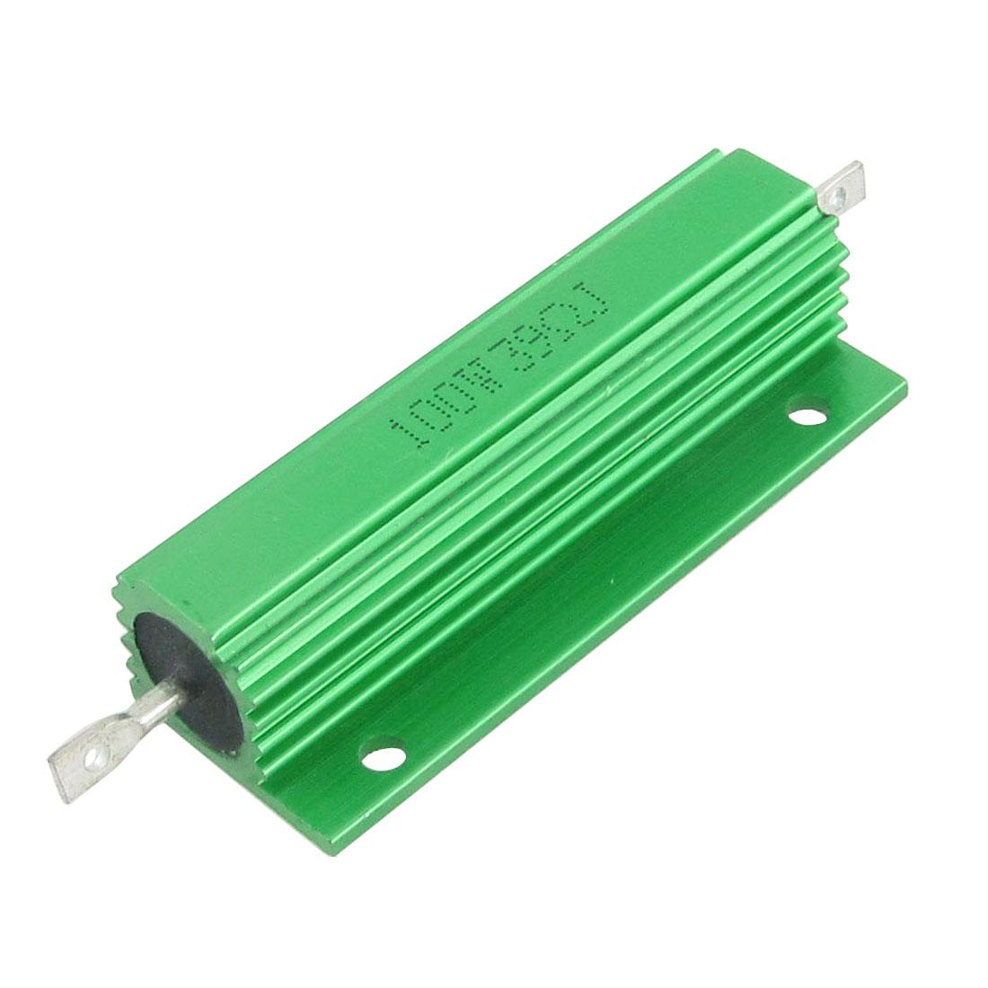 Green Aluminum Case Wire Wound 100W 5% 39 Ohm Resistors Resistance 2 Pcs