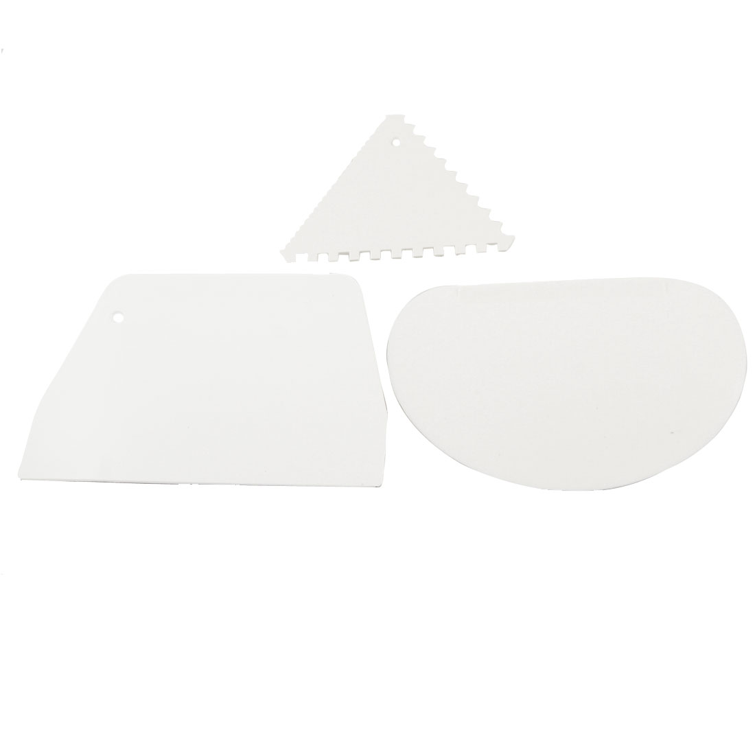 DIY Cake Decorating White Plastic Cutter Scraper Kitchen Tool 3 in 1 Set