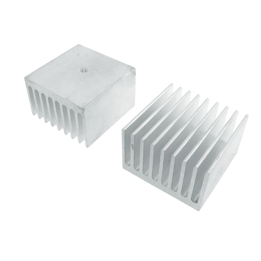 2 Pcs 37mm x 24mm x 38mm Heatsink Heat Diffuse Aluminium Cooling Fin
