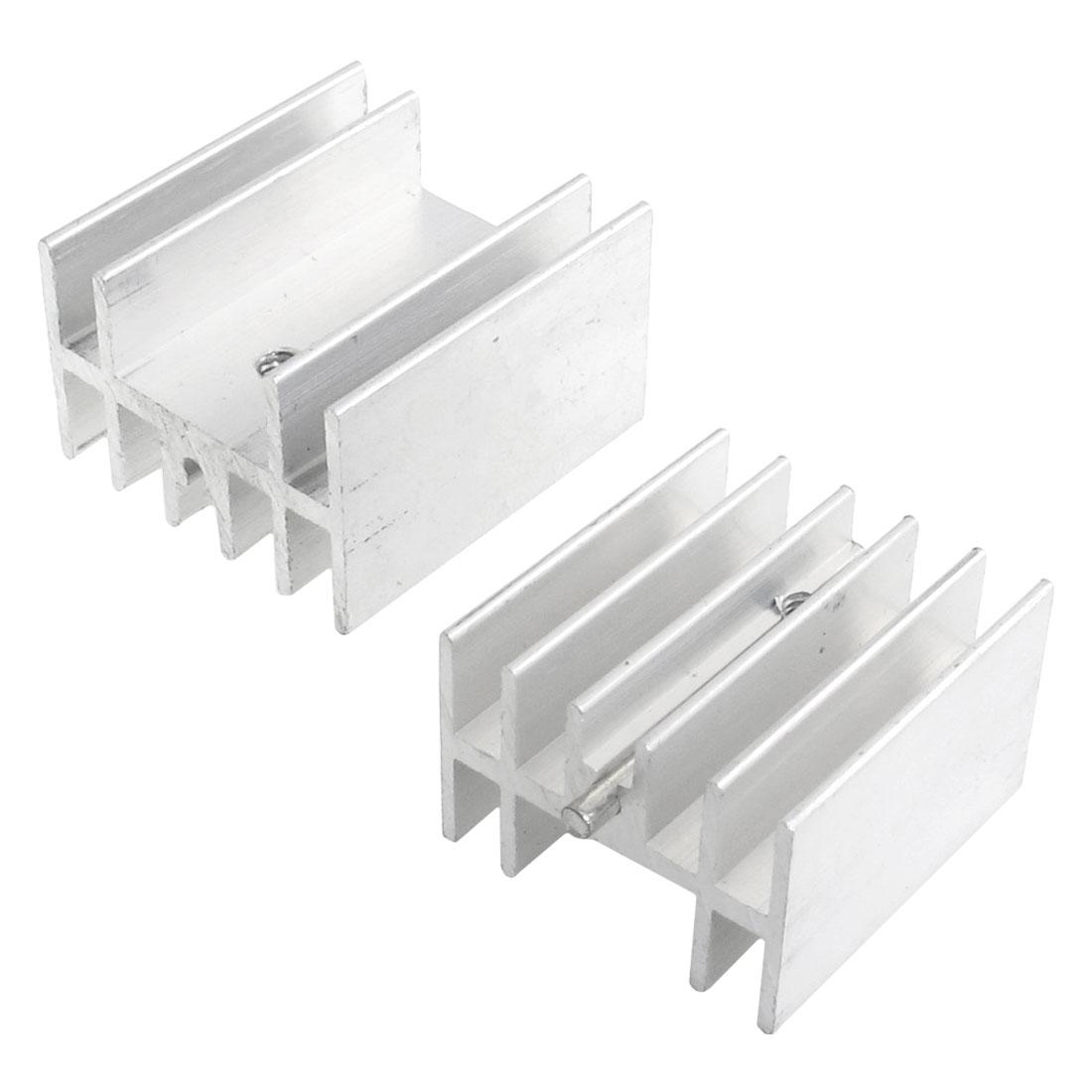 2 Pcs 23.5x16x25mm Heatsink Heat Diffuse Aluminium Cooling Fin