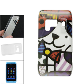 Multicolor Cat Printed IMD Shell Protecting Back Case for Nokia N8