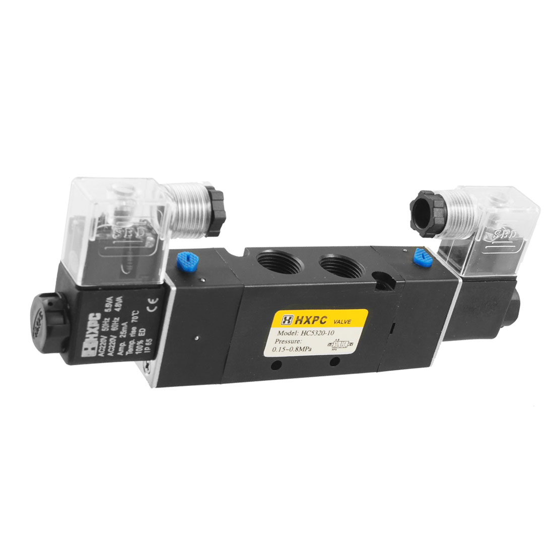 HC5320-10 AC 220V 25mA Pneumatic Solenoid Filter Air Valve 5 Port 2 Position