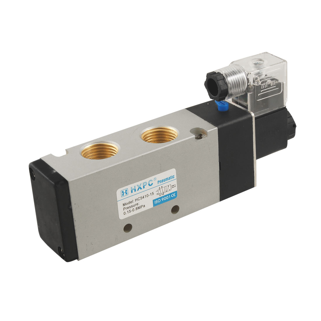 HC5410-15 AC 220V 50mA 2 Position 5 Way Pneumatic Solenoid Valve
