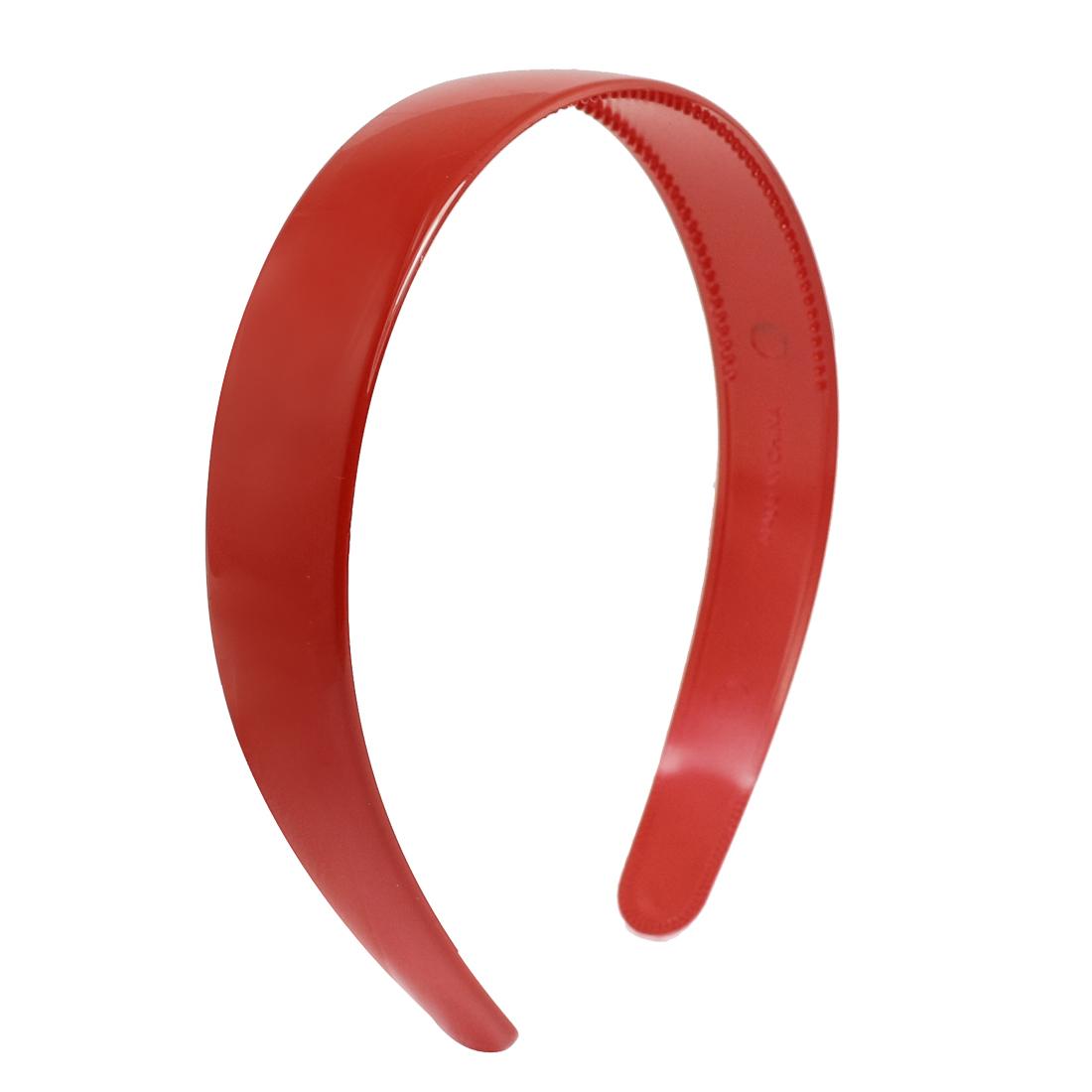 Ladies Red Plastic Teeth Hair Hoop Headband Ornament