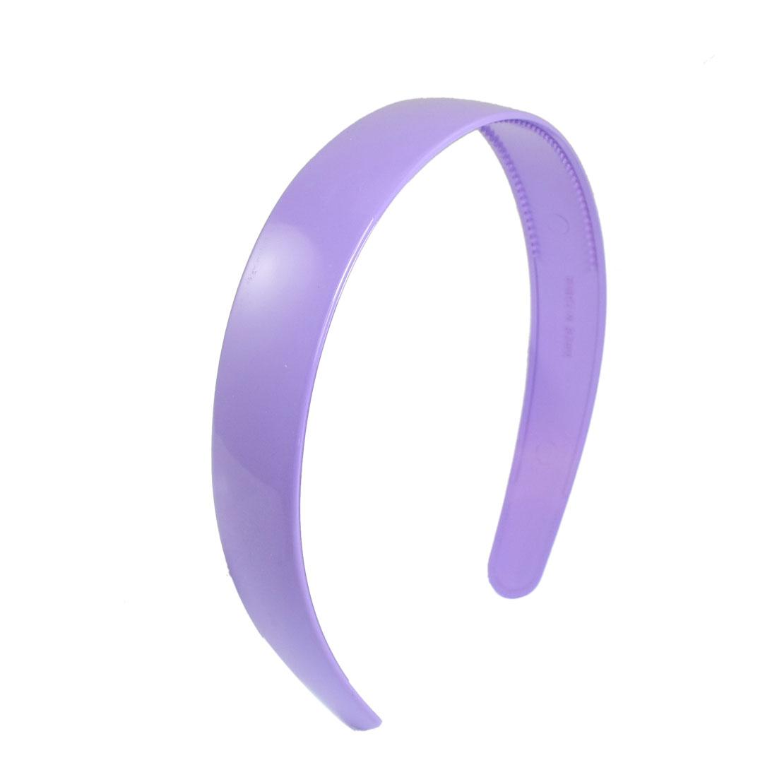 Lady Purple Plastic Hair Hoop Headband Ornament w Teeth