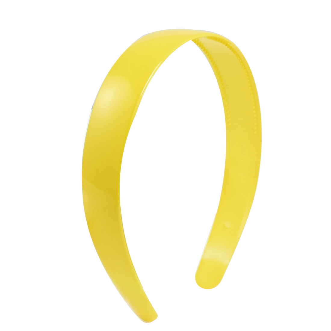 Lady Yellow Plastic Hair Hoop Headband Ornament w Teeth