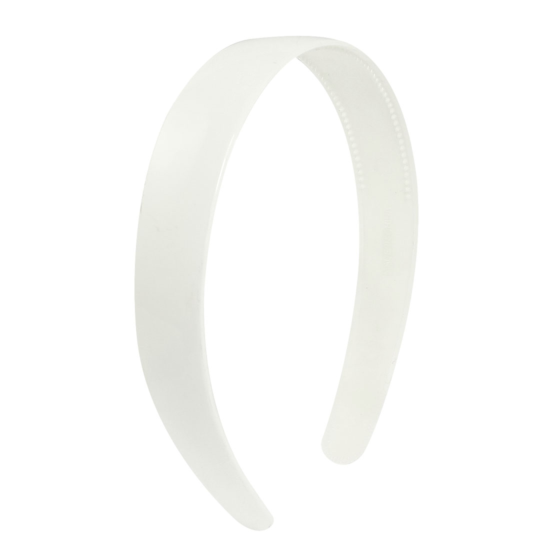 White Plastic Toothed Accent Hair Hoop Lady Headband Ornament