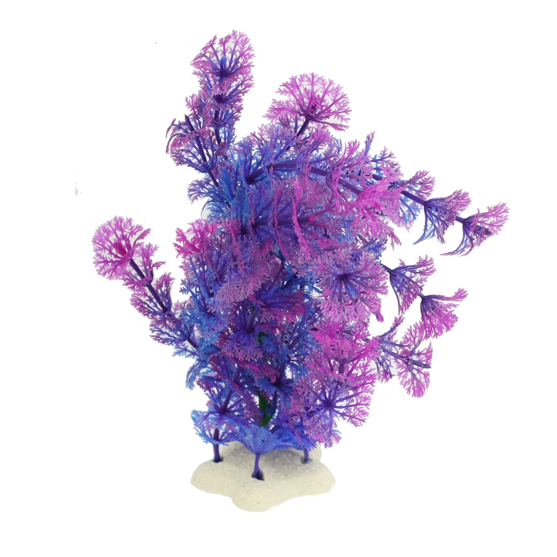 Aquarium Aquascaping Plastic Water Plant Blue Fuchsia