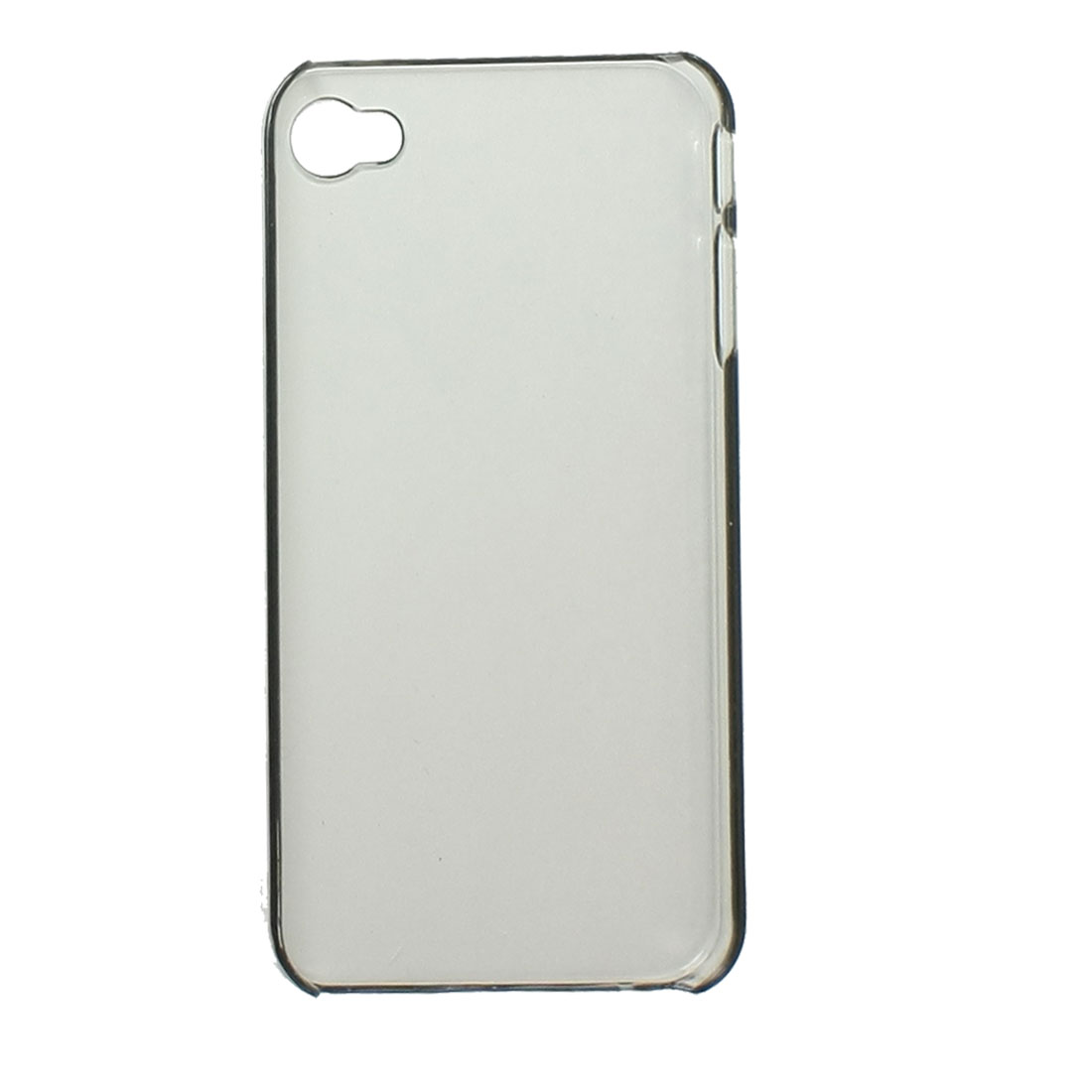 Protective Clear Black Hard Plastic Cover Guard for iPhone 4 4G 4S 4GS