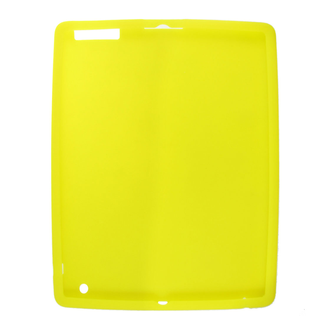 Soft Silicone Skin Yellow Cover for Apple iPad 3rd Generation
