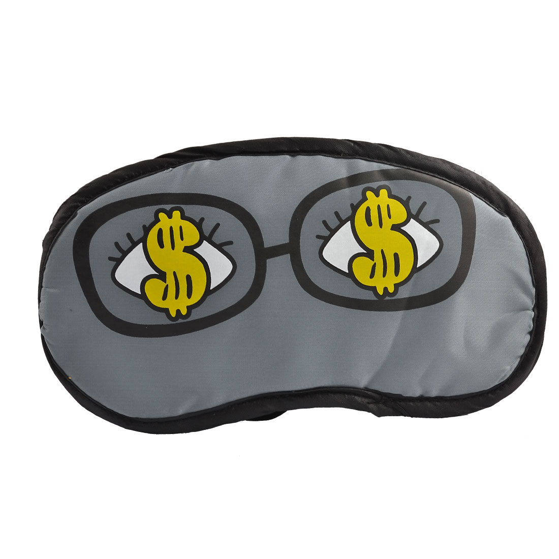 Dollar Eyes Pattern Stretchy Strap Sleeping Eye Mask Eyeshade Gray