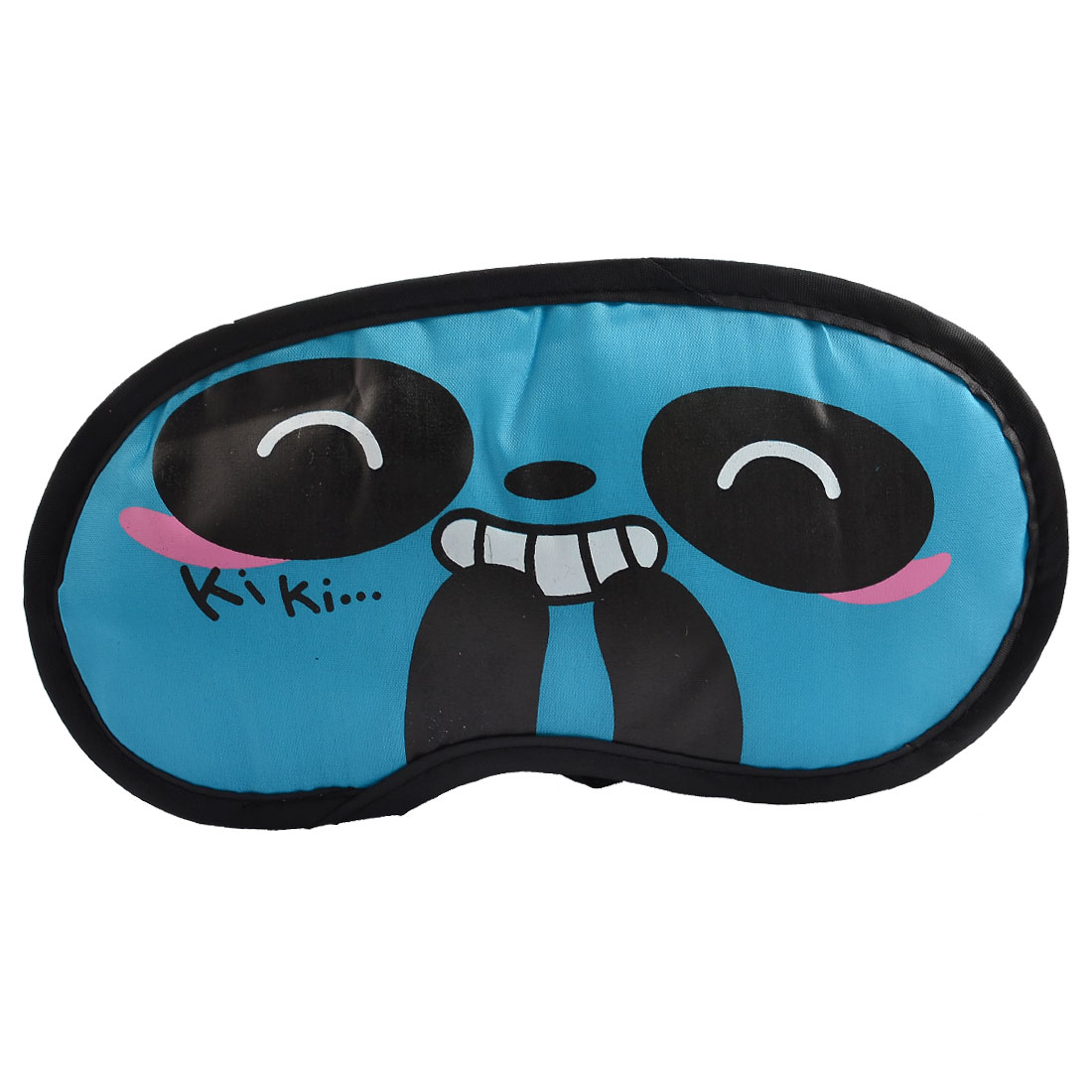 Cartoon Panda Pattern Elastic Strap Eye Blinder Mask Eyeshade Blue