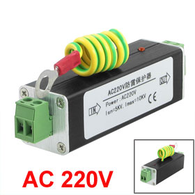 AC 220V Power Supply Surge Protection Arrester Black