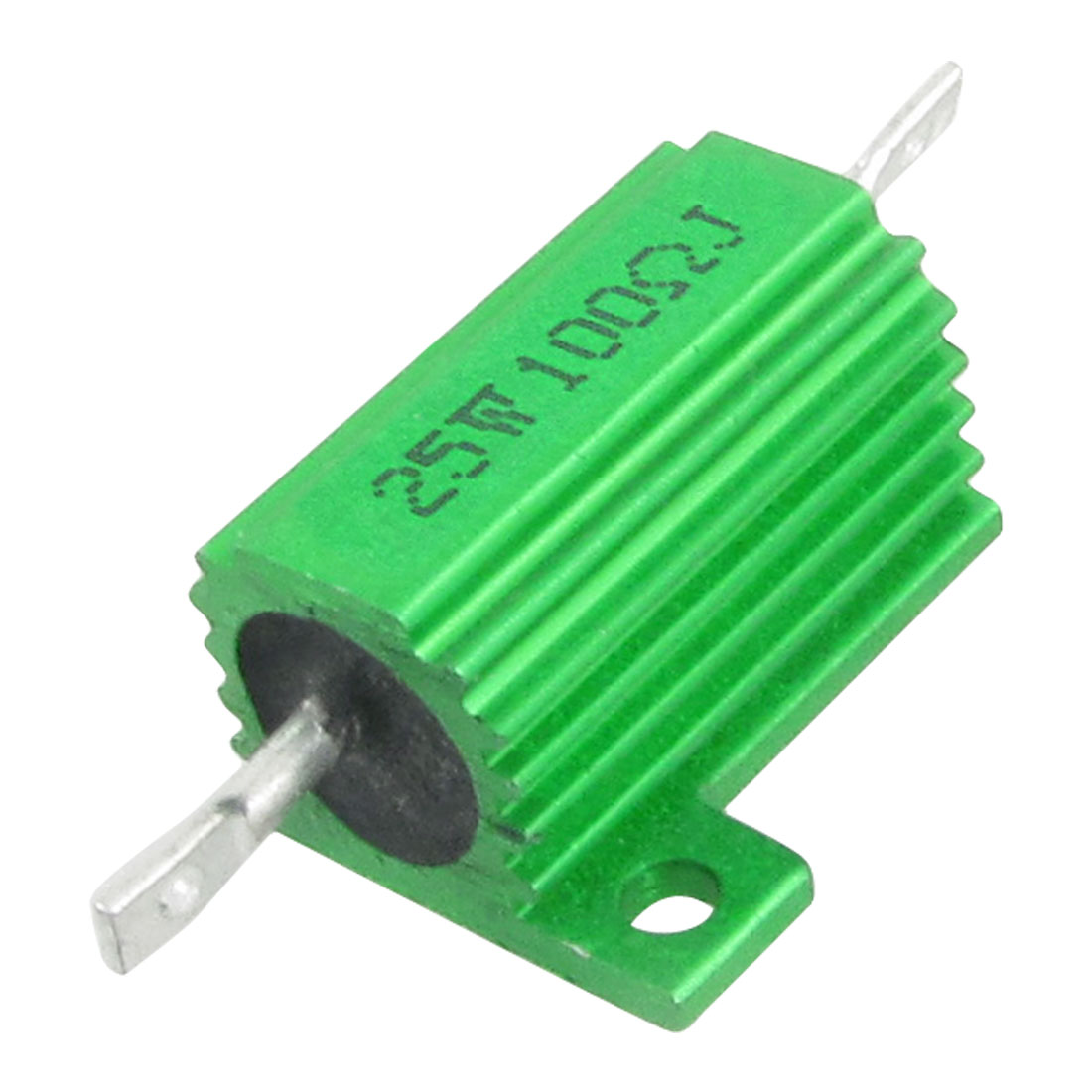 Green 25W Watt 100 Ohm 5% Aluminum Housed Wire Wound Resistor