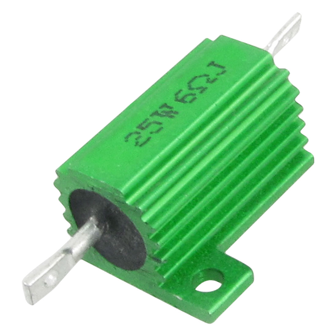 Green 25W Watt 6 Ohm 5% Aluminum Housed Wire Wound Resistor