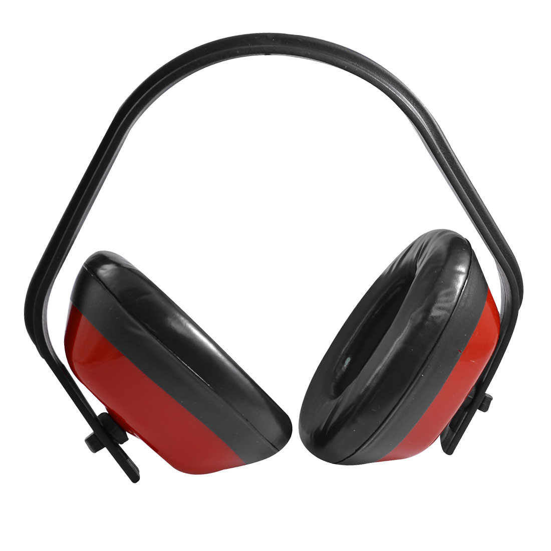 Red Black Plastic Adjustable Noise Reducer Hearing Protection Ear Muffs