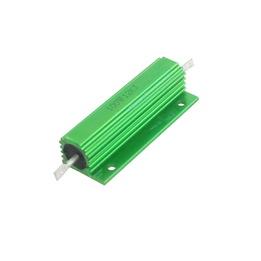 100W 12K Ohm Screw Tap Mounted Aluminum Housed Wirewound Resistors 2 Pcs