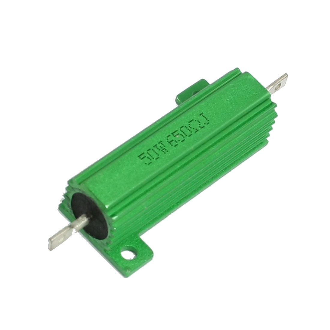 50W 650 Ohm Green Aluminium Chassis Mounted Wirewound Resistor