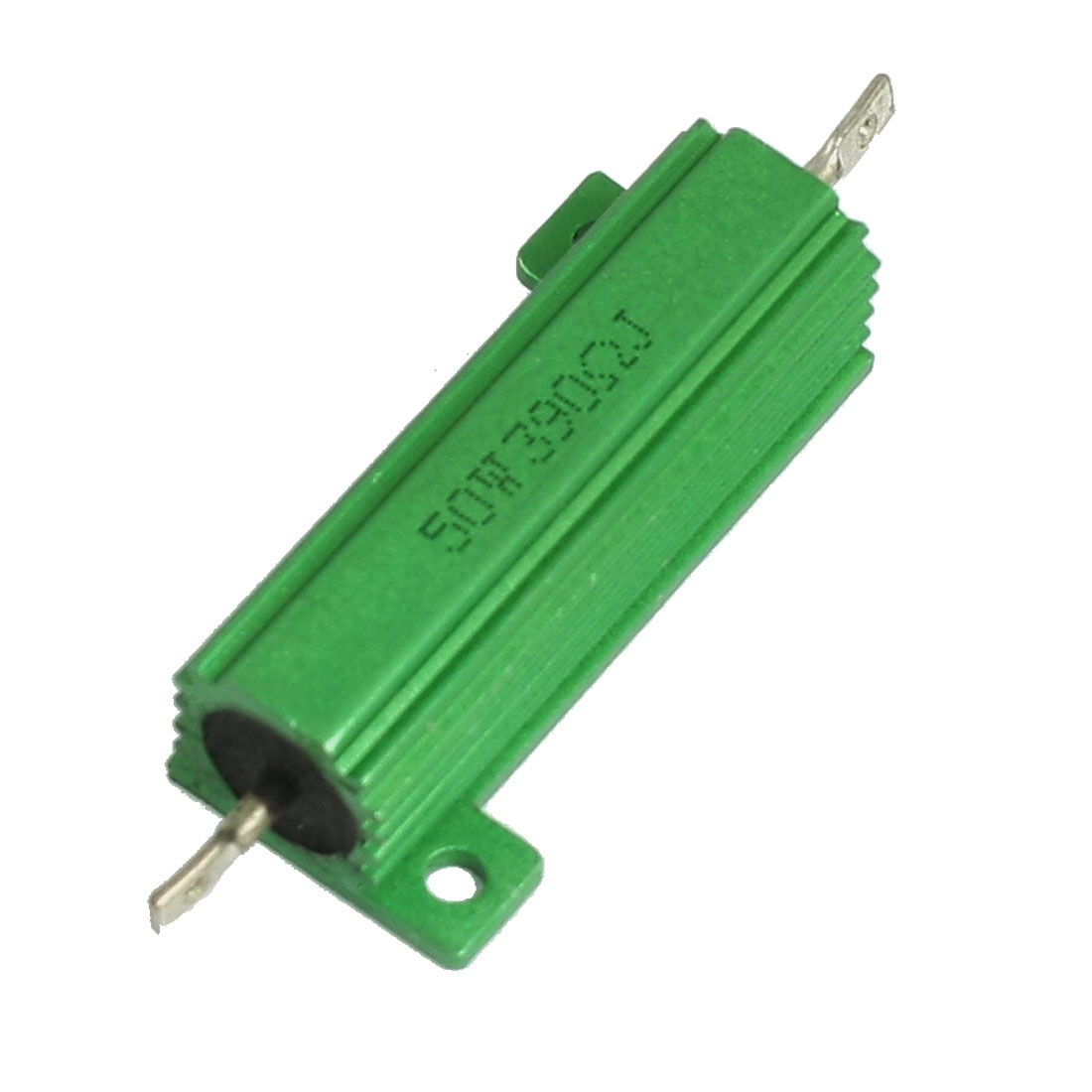 50W 390 Ohm Green Aluminium Chassis Mounted Wirewound Resistor