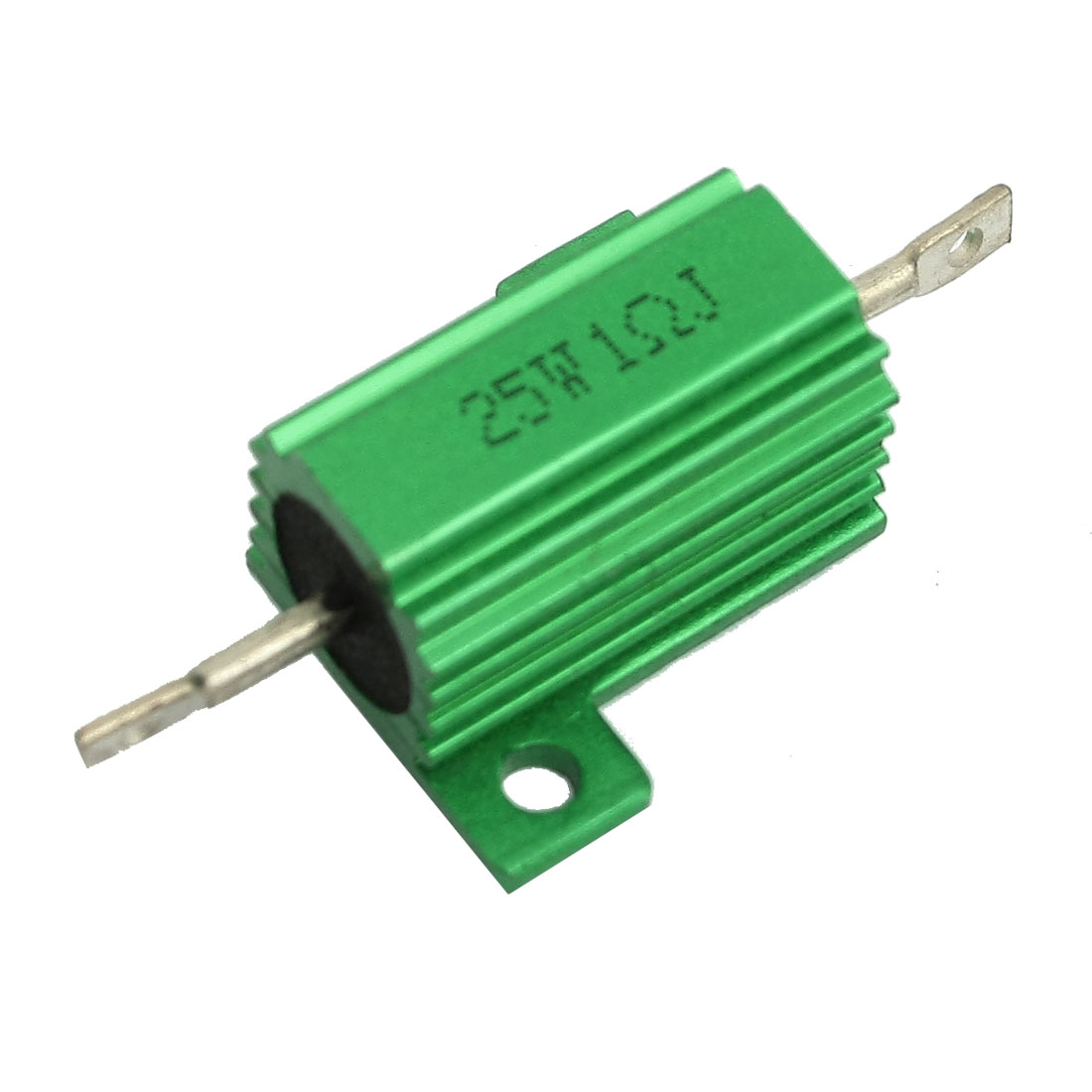 Green Aluminum Housed Wirewound Resistor 25W 1 Ohm 5%
