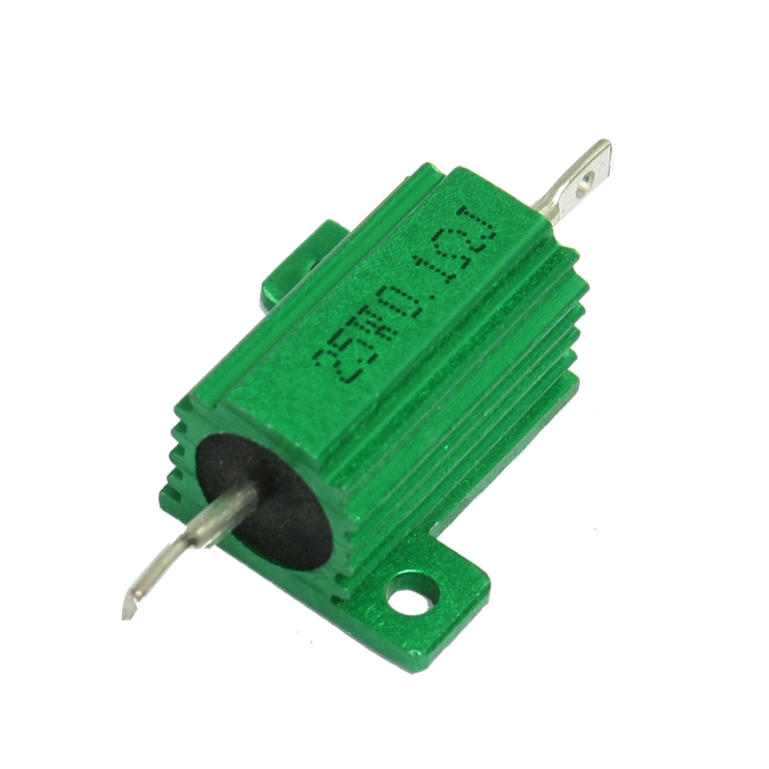 25W 0.1 Ohm Green Aluminium Chassis Mounted Wirewound Resistor