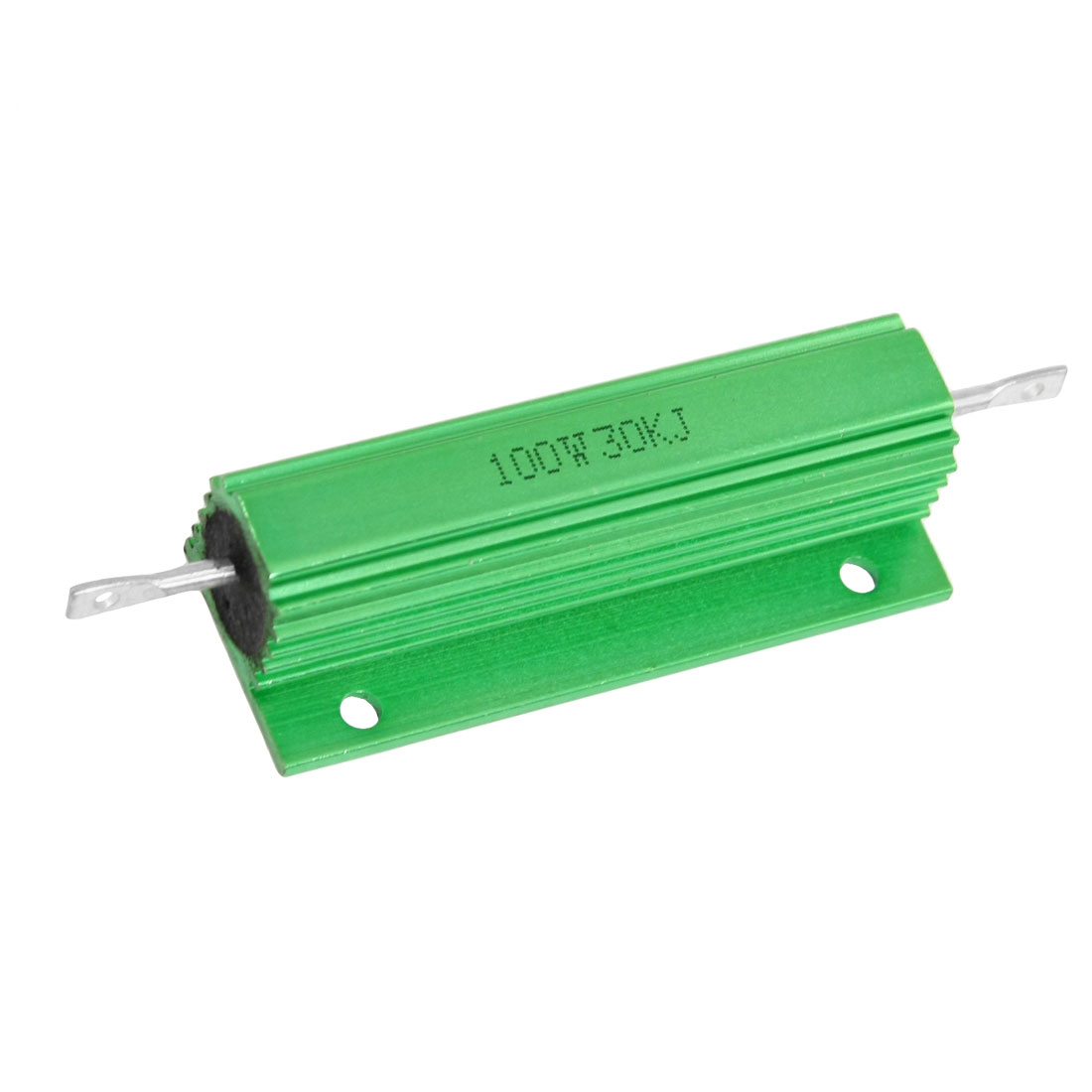 100W 30K Ohm Green Aluminium Clad Chassis Mounted Housed Resistor
