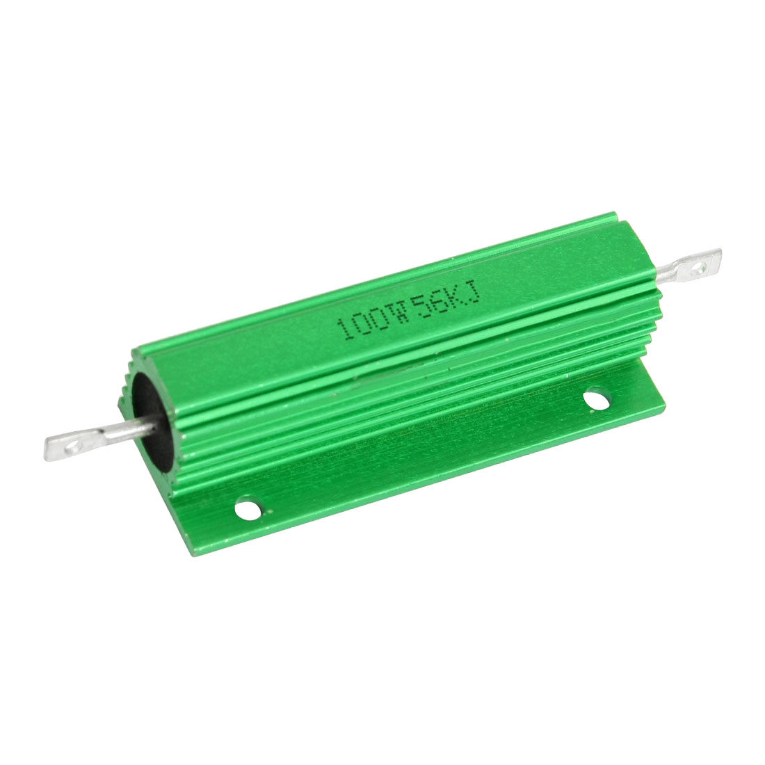 100W 56K Ohm Green Aluminium Clad Chassis Mounted Housed Resistor