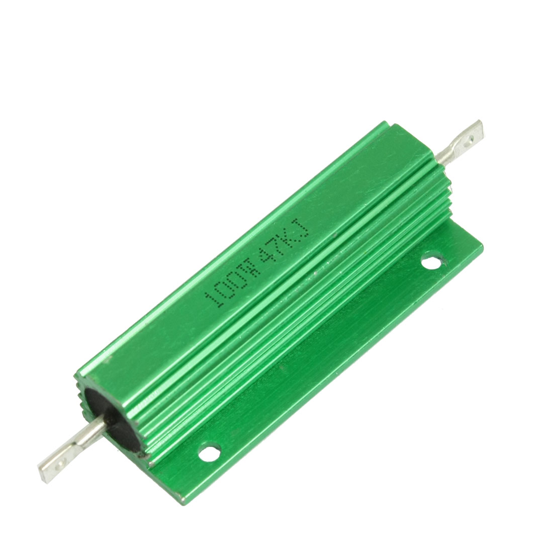 100W 47K Ohm Green Aluminium Clad Chassis Mounted Housed Resistor