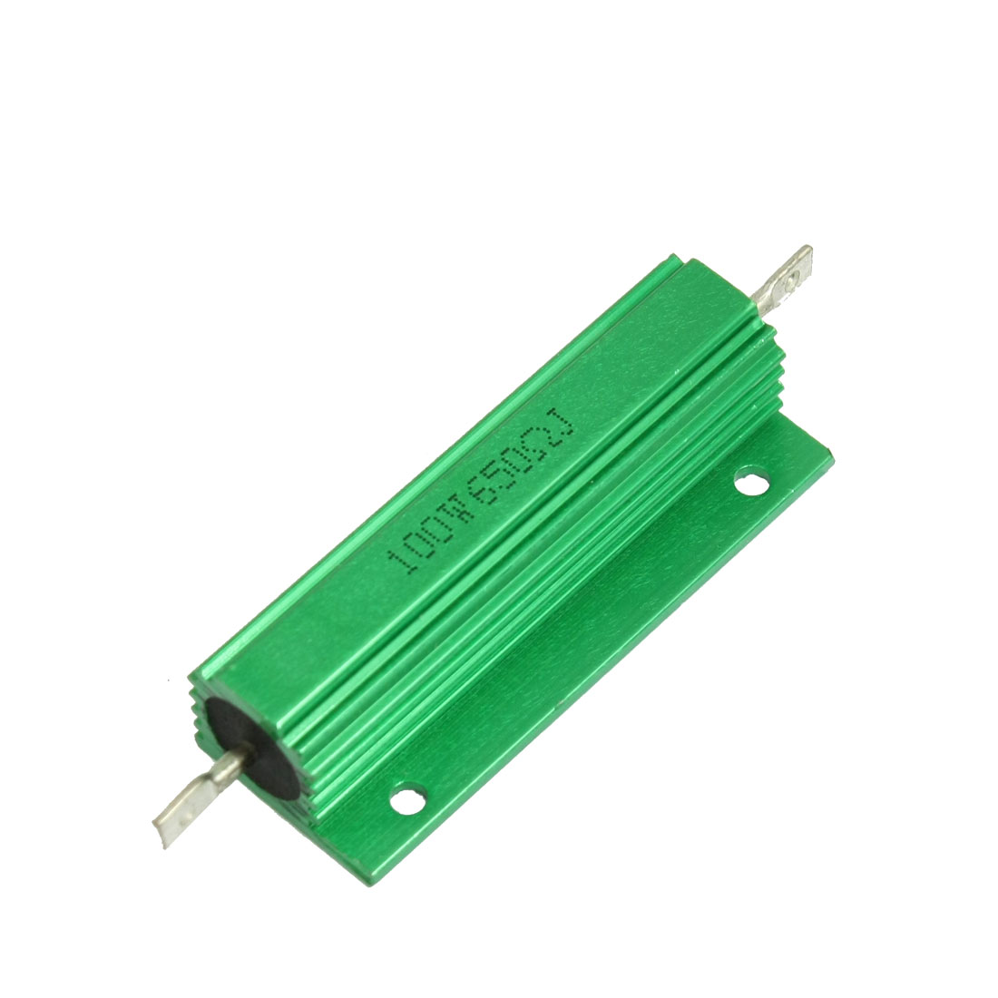 100W 650 Ohm Green Aluminium Clad Chassis Mounted Housed Resistor