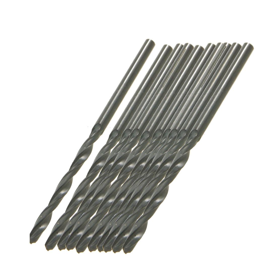 10 Pcs 2.6mm Dia Split Point Tip High Speed Steel HSS Twist Drill Bits Black