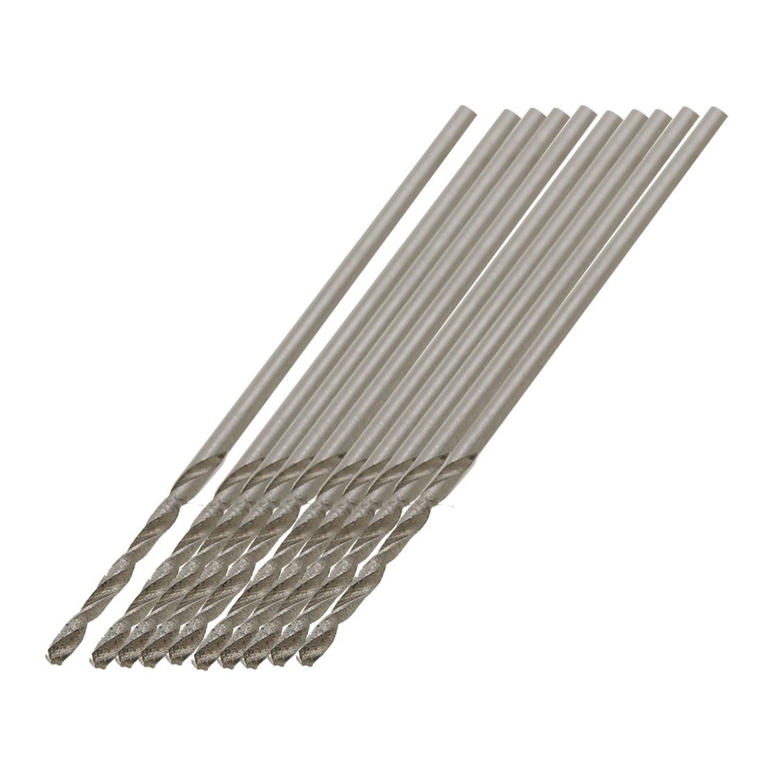 10 Pcs 1mm Dia Split Point Tip High Speed Steel HSS Fully Ground Drill Bits
